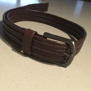 """Other - BELT - Brown, braided w/ silver buckle. 1"""", OS"""
